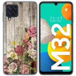 Funda Silicona para Samsung Galaxy M32 diseño Madera 08 Dibujos