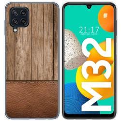 Funda Silicona para Samsung Galaxy M32 diseño Madera 09 Dibujos