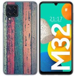 Funda Silicona para Samsung Galaxy M32 diseño Madera 10 Dibujos