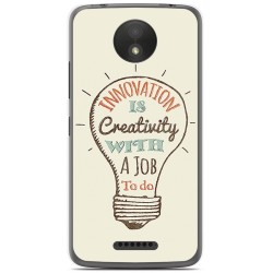 Funda Gel Tpu para Motorola Moto C Plus Diseño Creativity Dibujos