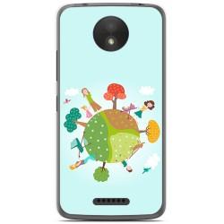 Funda Gel Tpu para Motorola Moto C Plus Diseño Familia Dibujos