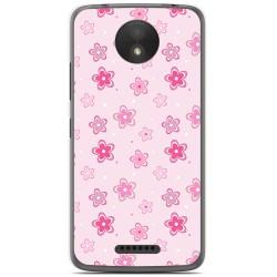 Funda Gel Tpu para Motorola Moto C Plus Diseño Flores Dibujos