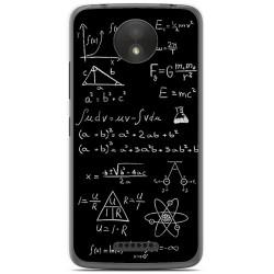 Funda Gel Tpu para Motorola Moto C Plus Diseño Formulas Dibujos