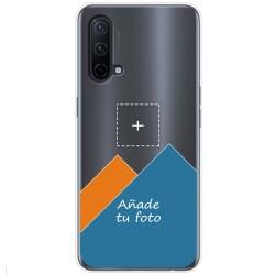 Personaliza tu Funda Silicona Gel Tpu Transparente con tu Fotografia para OnePlus Nord CE 5G Dibujo Personalizada