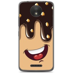 Funda Gel Tpu para Motorola Moto C Plus Diseño Helado Chocolate Dibujos