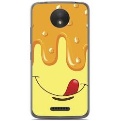 Funda Gel Tpu para Motorola Moto C Plus Diseño Helado Vainilla Dibujos
