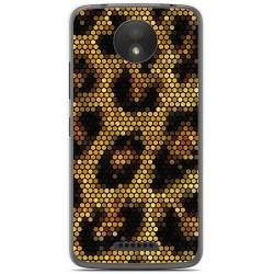 Funda Gel Tpu para Motorola Moto C Plus Diseño Leopardo Dibujos
