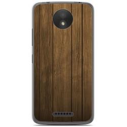 Funda Gel Tpu para Motorola Moto C Plus Diseño Madera Dibujos