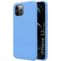 Funda Silicona Líquida Ultra Suave para Iphone 12 Pro Max (6.7) color Azul