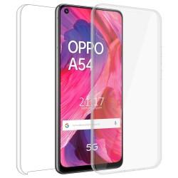 Funda Doble Transparente Pc + Tpu Full Body 360 para Oppo A54 5G / A74 5G
