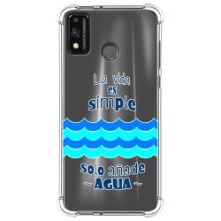 Funda Silicona Antigolpes para Huawei Honor 9X Lite diseño Agua Dibujos