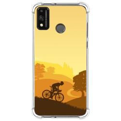 Funda Silicona Antigolpes para Huawei Honor 9X Lite diseño Ciclista Dibujos