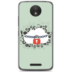 Funda Gel Tpu para Motorola Moto C Plus Diseño Nube Dibujos