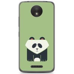 Funda Gel Tpu para Motorola Moto C Plus Diseño Panda Dibujos