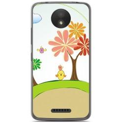 Funda Gel Tpu para Motorola Moto C Plus Diseño Primavera Dibujos