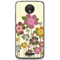 Funda Gel Tpu para Motorola Moto C Plus Diseño Primavera En Flor  Dibujos