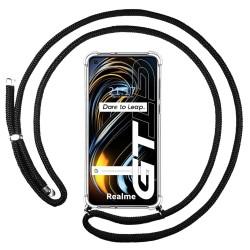 Funda Colgante Transparente para Realme GT 5G con Cordon Negro