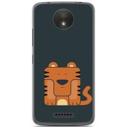 Funda Gel Tpu para Motorola Moto C Plus Diseño Tigre Dibujos