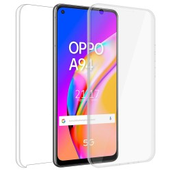 Funda Doble Transparente Pc + Tpu Full Body 360 para Oppo A94 5G