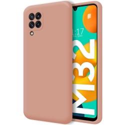 Funda Silicona Líquida Ultra Suave para Samsung Galaxy M32 color Rosa