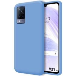 Funda Silicona Líquida Ultra Suave para Vivo V21 5G color Azul