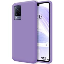 Funda Silicona Líquida Ultra Suave para Vivo V21 5G color Morada