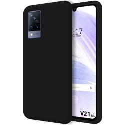 Funda Silicona Líquida Ultra Suave para Vivo V21 5G color Negra