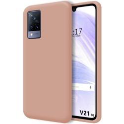 Funda Silicona Líquida Ultra Suave para Vivo V21 5G color Rosa