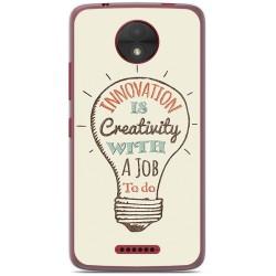 Funda Gel Tpu para Motorola Moto C Diseño Creativity Dibujos