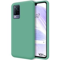 Funda Silicona Líquida Ultra Suave para Vivo V21 5G color Verde