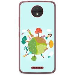 Funda Gel Tpu para Motorola Moto C Diseño Familia Dibujos