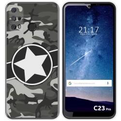 Funda Silicona para Oukitel C23 Pro diseño Camuflaje 02 Dibujos