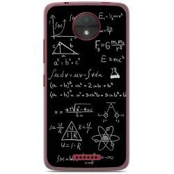 Funda Gel Tpu para Motorola Moto C Diseño Formulas Dibujos