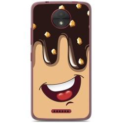 Funda Gel Tpu para Motorola Moto C Diseño Helado Chocolate Dibujos