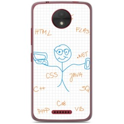 Funda Gel Tpu para Motorola Moto C Diseño Informatico Dibujos