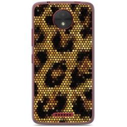 Funda Gel Tpu para Motorola Moto C Diseño Leopardo Dibujos