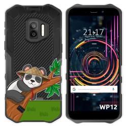 Funda Silicona Transparente para Oukitel WP12 / WP12 Pro diseño Panda Dibujos
