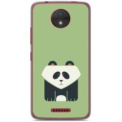 Funda Gel Tpu para Motorola Moto C Diseño Panda Dibujos