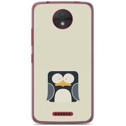 Funda Gel Tpu para Motorola Moto C Diseño Pingüino Dibujos
