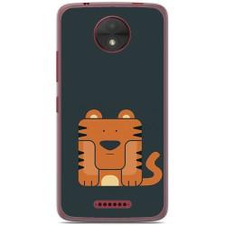 Funda Gel Tpu para Motorola Moto C Diseño Tigre Dibujos