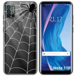 Funda Silicona Transparente para Ulefone Note 11P diseño Araña Dibujos