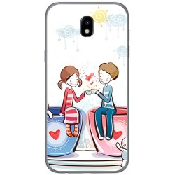 Funda Gel Tpu para Samsung Galaxy J5 (2017) Diseño Cafe Dibujos