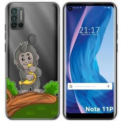 Funda Silicona Transparente para Ulefone Note 11P diseño Mono Dibujos