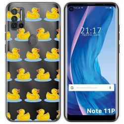 Funda Silicona Transparente para Ulefone Note 11P diseño Pato Dibujos