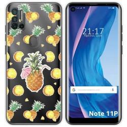 Funda Silicona Transparente para Ulefone Note 11P diseño Piña Dibujos