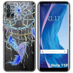Funda Silicona Transparente para Ulefone Note 11P diseño Plumas Dibujos