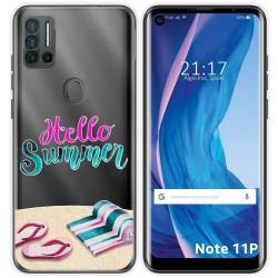 Funda Silicona Transparente para Ulefone Note 11P diseño Summer Dibujos