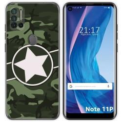 Funda Silicona para Ulefone Note 11P diseño Camuflaje 01 Dibujos