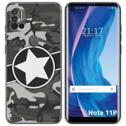 Funda Silicona para Ulefone Note 11P diseño Camuflaje 02 Dibujos
