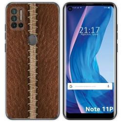 Funda Silicona para Ulefone Note 11P diseño Cuero 01 Dibujos